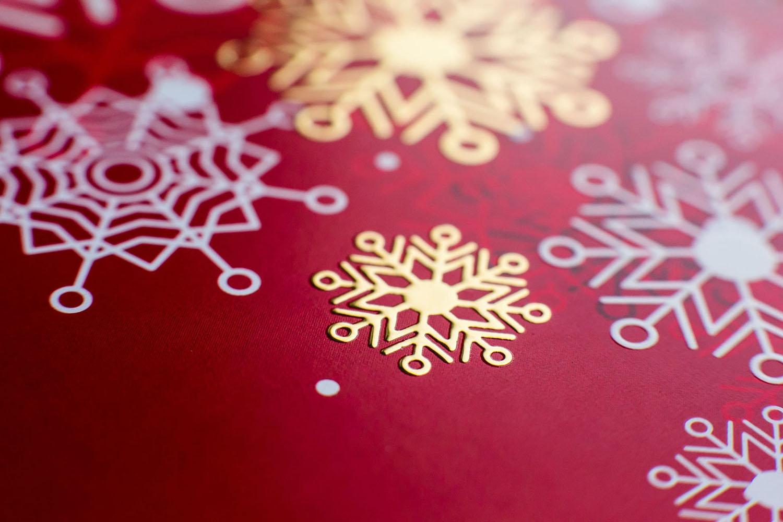 Печать фольгой снежинка